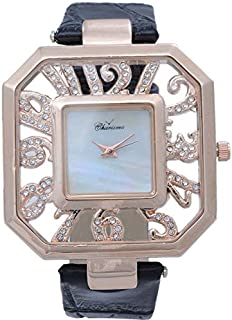 Charisma Women's Mother of Pearl Dial Leather Band Watch [C5582]