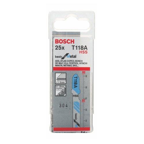 Bosch Professional decoupeerzaagblad, 25 stuks, voor dunne platen met 1-3 mm, accessoires voor decoupeerzaag