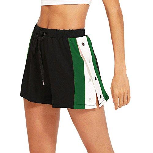 BeautyTop Pantalons Femmes, Femmes éTé éLastique Trois Couture Shorts Sport Pantalon Leggings Fitness Sports Running Fines Strap Pants Jumpsuit Liquid