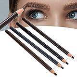 Juego de lápices de cejas de 4 piezas, juego de lápices de cejas de pico de pato de 4 colores, lápiz de cejas natural resistente al agua de larga duración, herramientas cosméticas