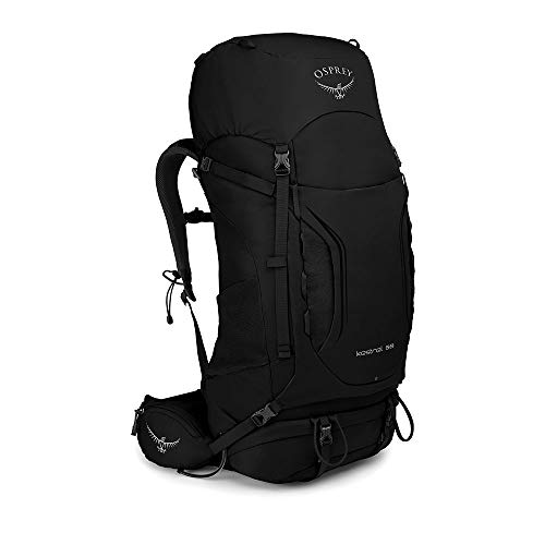 Osprey Kestrel 58, Hiking Pack Uomo, Nero, M/L