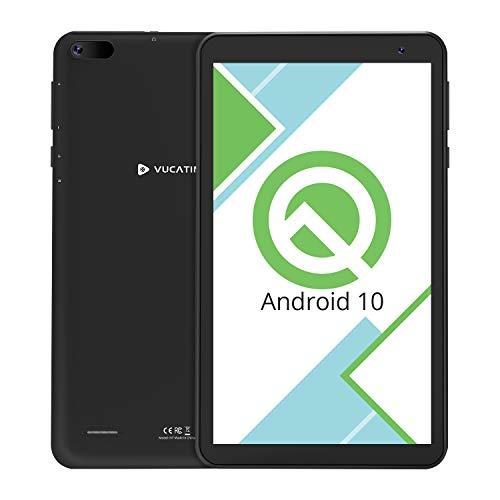 Tablet 7-Inch Android 10.0 Wi-Fi - VUCATIMES N7 16GB ROM Quad-Core Processor IPS HD Display Dual Camera Bluetooth Google Certified Black