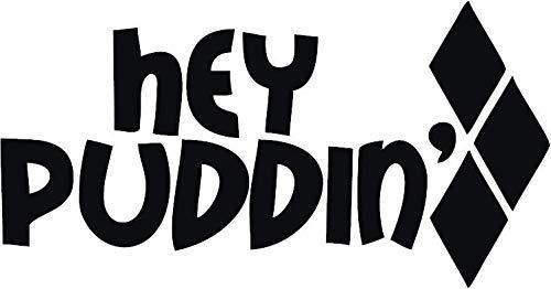 Harley Quinn Vinyl-Aufkleber für Fenster, Auto, LKW, Boot, Laptop, iPhone, Wand, Motorrad, Spielkonsole und Größen 6 Schwarz 3175BK6