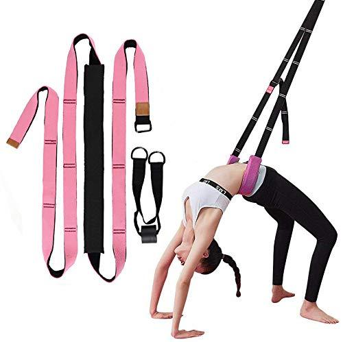 Wuudi Yoga Beinspreizer, Beinstrecker Dehnungsband Stretch Band Yoga-Gurt für Yoga, Dehnungsband Stretch Band Yoga-Gurt für Yoga, Ballett und Gymnastik Training Rosa