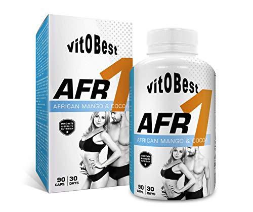 Reductor de Grasa Abdominal AFR - 90 Caps. - Quemagrasas Potente para Adelgazar - Vitobest (AFR 1 - African Mango & Cocoa) - Suplementos Alimentación y Deportivos -Vitobest