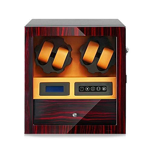 Reloj automático de la devanadera de la caja for 4 relojes + 5 Posición de almacenamiento, Watch Winder digital del LCD silencioso del motor, con el cajón, los mejores regalos jianyou ( Color : D )