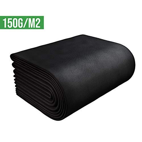 GardenGloss worteldoek, tuindoek, 150 g/m2 30m² (15m x 2m) zwart