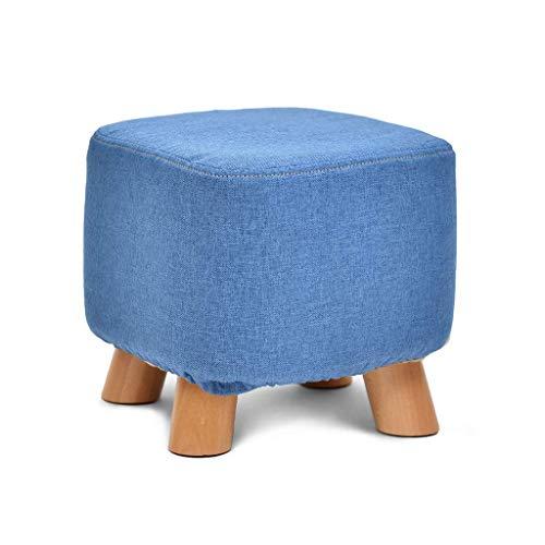 POETRY voetenbank van massief hout voor thuis, salontafel, creatieve voetenbank, schoenenbank, afneembare en wasbare kruk (kleur: 5#) 4
