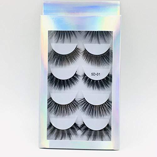 KADIS Natural Long Black False Eyelashes Fake Eye Lashes Makeup Extension Tools Professional Individual Eye Lashes,9