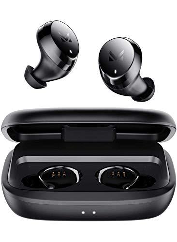 MULTITED TX Best Wireless Earbuds Bluetooth 5.0 Ear Buds Wireless Headphones with 3000mAh Charging Case - Earphones Designed for Sport - Hi-Fi Well-Balanced Sound, Deep Bass IPX7 Waterproof Microphone