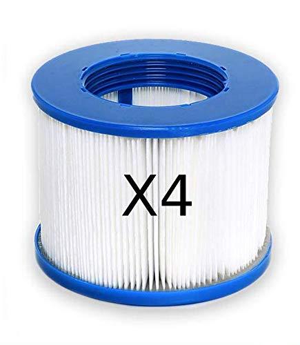 Achatutile Cartouche Filtre à vis pour Spa Gonflable (Pas de vis 60mm) Lot de 4