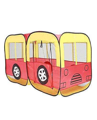 NIU Tienda de Campaña en Forma de Camión de Bomberos, Interior y Exterior, Poliéster Pop Up Plegable Tienda Tipi Infantil Playhouse Toy para Juegos (Color : Yellow, Size : 160 * 80 * 90cm)