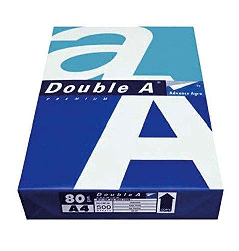 Double A 10330057933 Papier, 250 Blatt, DIN A4, 80 g/qm, 2500 Karton, weiß