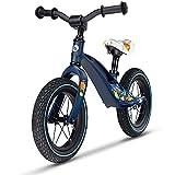 LIONELO Bart Bicicleta sin Pedales de 2 años hasta 30kg, Cuadro de magnesio, al Estilo Deportivo, Ruedas 12', Altura de Manillar y sillín Regulable, Muy Robusta y Ligera (Azul, Bart Air)