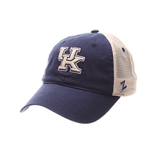 NCAA Zephyr Kentucky Wildcats Mens University Relaxed Hat, Adjustable, Team Color/Stone