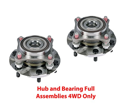 DTA Front Wheel Bearing & Hub Full Assemblies NT515040G3 x 2 pcs Brand New Fits 4WD Tacoma 4 Runner GX460 GX470 4WD Only With Studs