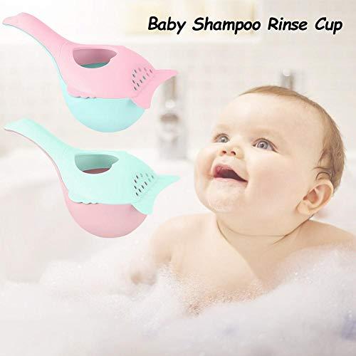 Wateralone Shampoo Cup Baby Shampoo Spülbecher Hand Shampoo Rinser Mit Griffigem Griff, BPA-freiem Badspüler Haarwaschbecher Für Kleinkind