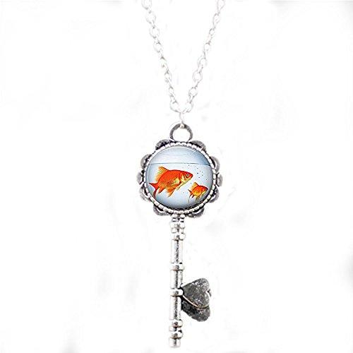 Fish Bowl Schlüssel Halskette Gold Fisch Tank Aquarium Goldfish Halskette Schlüssel, Schlüsselanhänger