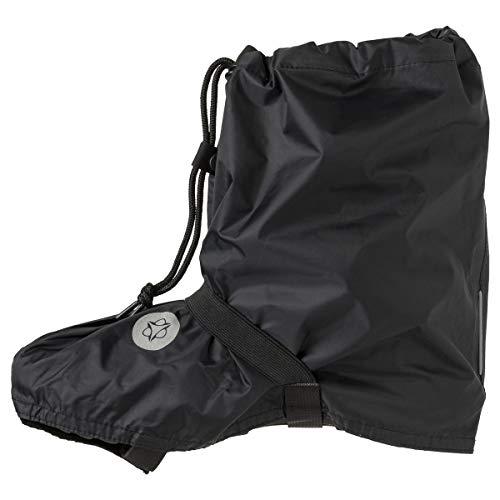 AGU Quick Bike Boots Essential Couvre-Chaussures Velo, Imperméable, Polyester Recyclé, Etanche, Unisex - Pointure 42 à 45 - Noir