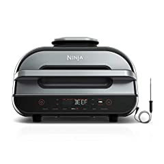 Ninja Foodi Smart XL Grill with Smart Cook System. The Smart XL grill that sears, sizzles, and crisps. Indoor countertop Grill and Air Fryer Perfectly cook food on the inside to your desired doneness and char-grill every side with 500F Cyclonic Grill...