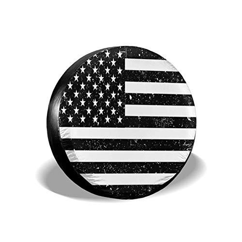 NOBRAND Cubierta Universal para Llantas con Bandera Americana Impermeable, Protector Solar, a Prueba de Polvo, Accesorios para Llantas de Repuesto para la mayoría de los vehículos