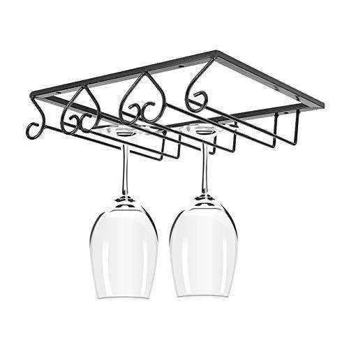 Exhibición de la copa de vino, estante de exhibición 3.5 pulgadas estante de cristal en forma de corazón, para la cocina de la barra(3 slots)