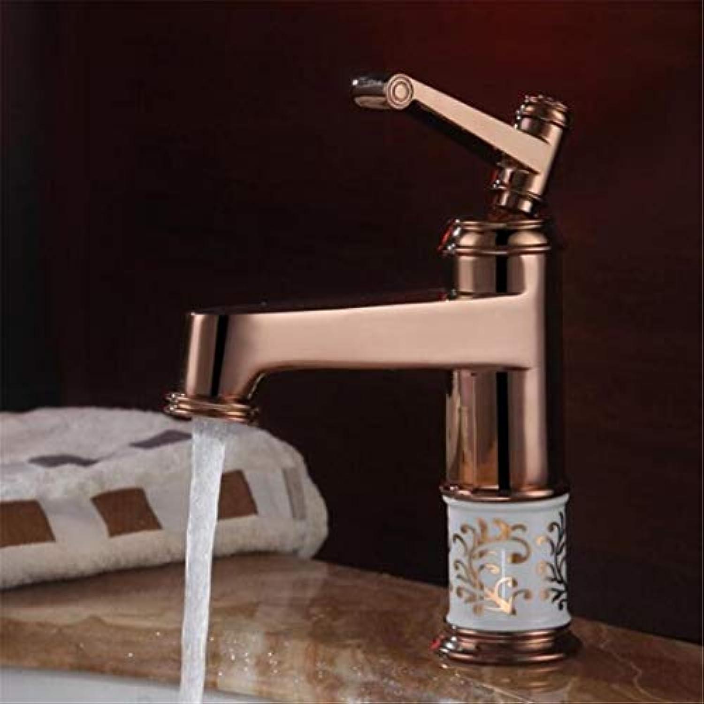 Wasserhahn Waschtischmischer Gold Klassischen Kupfer Hei Und Kalt Wasserhahn Boden VerGoldete Keramik Badezimmer Waschbecken Wasserhahn Hnde