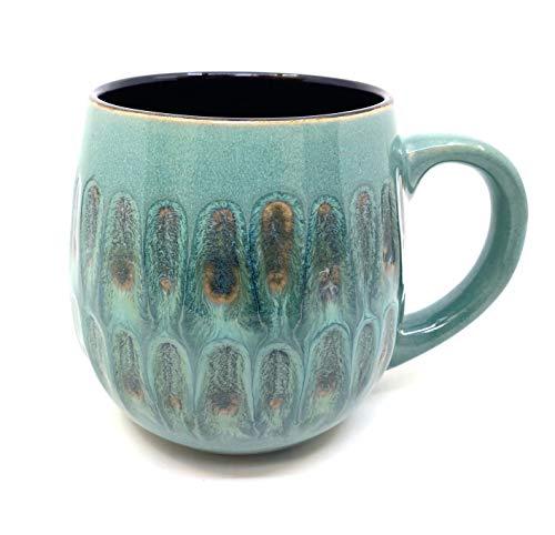 Ceramic Art Glazed Mug 18oz (Ocean Tide)