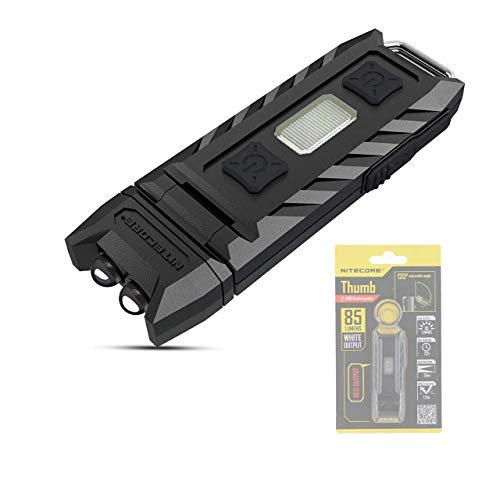 NITECORE THUMB Mini LED Taschenlampe Schlüsselanhänger 85 Lumen USB Wiederaufladbare Schlüsselbund Licht