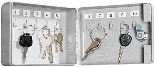 Xcase Schlüsselbox: Mini-Stahl-Schlüsselschrank für 10 Schlüssel, mit Sicherheitsschloss (Schlüsselkästchen)