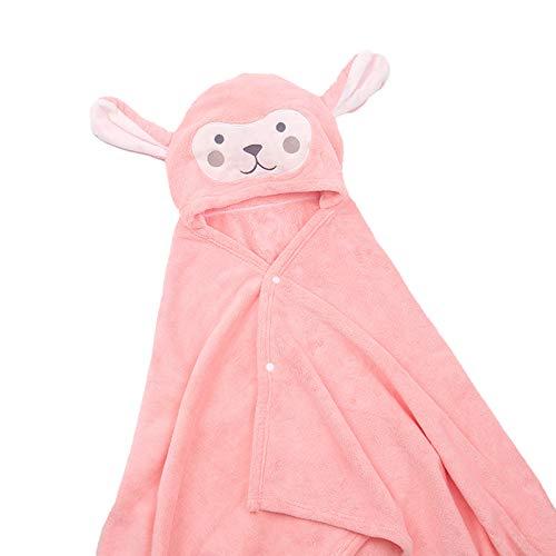 DERCLIVE Toalla con capucha para bebé de los niños de dibujos animados de coral de forro polar con capucha de baño