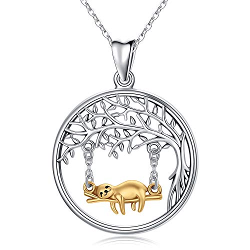 Sloth on a Swing Necklace