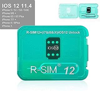 Meetinglea R-SIM12 V16 SIM Nano Unlock Card Case Holder Fully Automatic Unlock with ICCD Unlock Program for iPhone Xs/X/6/7/8/Plus