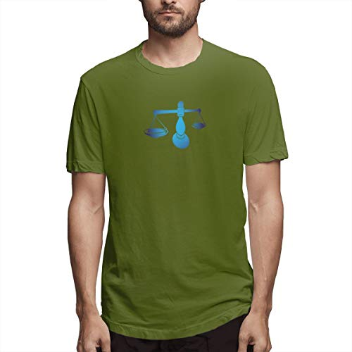 Hemd Waage Sternzeichen Horoskop Sternzeichen Astrologie Bild Waage Abe Herren Baumwolle lässig T-Shirt