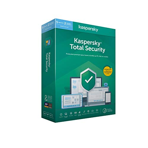 Kaspersky Total Security 2020 (5 Postes / 1 An)|Total Security|5 appareils|1 An|PC/MAC/Android|Telechargement