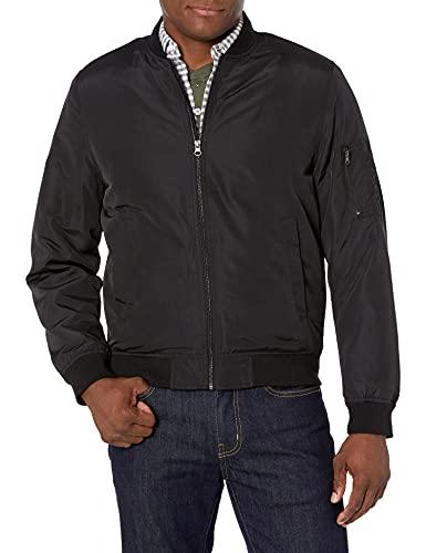 Amazon Essentials Men's Midweight Bomber Jacket, Black, Large