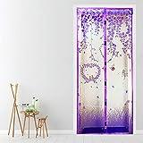 GGXX 2021 Upgraded Screen Door 4379 Inch Screen/Washable Mesh/Adjustable Insect Net, for Anti Mosquito Soft Door Purple #1-100220cm/3987in