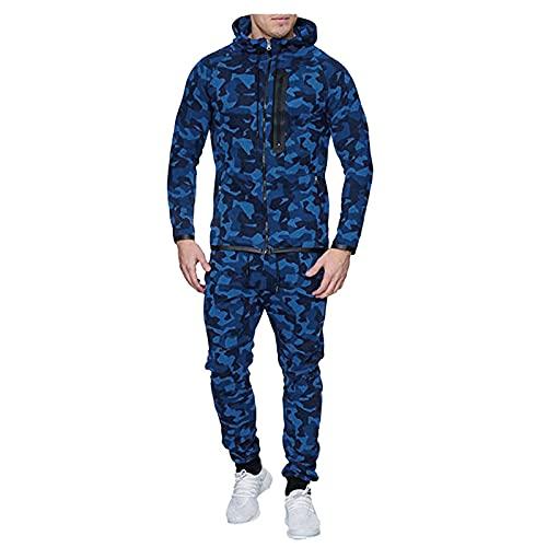 Conjunto de chandal hombre invierno sudaderas hombres con capucha y Pantalones Larga Abrigo Chaqueta Jersey para Otoño Invierno Inicio, Trabajo