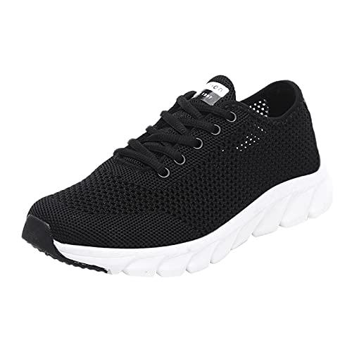 URIBAKY - Zapatillas de deporte para mujer, ligeras, transpirables, zapatillas de running, running, fitness, transpirables, zapatillas de senderismo, Le Noir, 38 EU