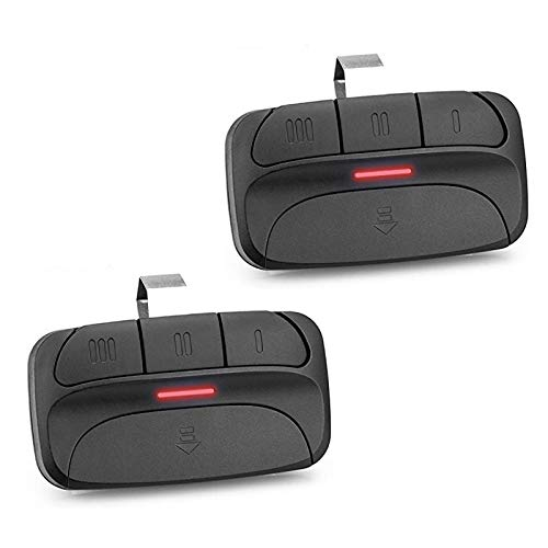 Refoss Garage Door Opener Remote, Orange/Red Learn Button Only Compatible with Liftmaster Chamberlain Craftsman 971LM, 973LM Security+ 390MHz - 2 Pack