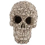Balacoo decoración de la Cabeza del cráneo Resina Artificial horriable pecera cráneo Cabeza...