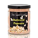 Buttered Popcorn Scented Candle - 6 Ounce Jar Candle- Hand Poured in Indiana