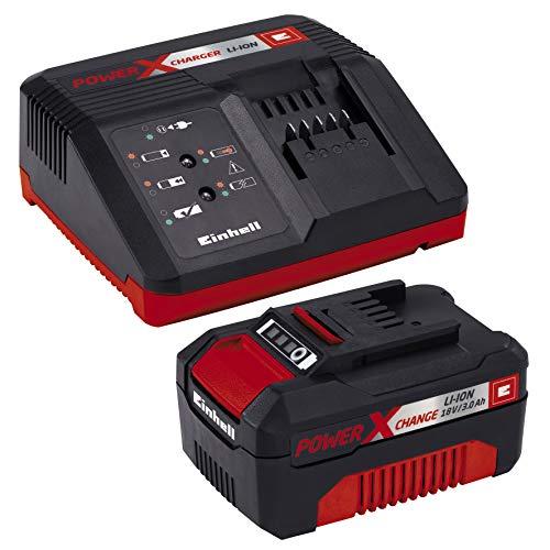 Einhell Tronçonneuse sans fil sur batterie GE-LC 18 Li Kit Power X-Change (18 V, 3,0 Ah, Longueur du guide 25 cm, Longueur de coupe 23 cm) VERSION KIT, LIVRE AVEC 1 BATTERIE 3.0 Ah ET 1 CHARGEUR