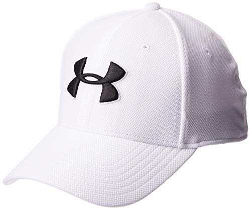 Under Armour Men's Blitzing 3.0 Cap Gorra, Hombre, Blanco (White/Steel/Black 100), S/M