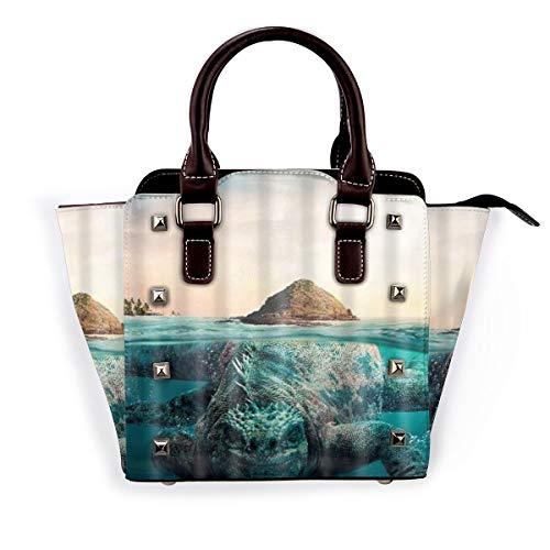 BROWCIN Stone Island Verstecke eine riesige Eidechse Abnehmbare mode trend damen handtasche umhängetasche umhängetasche