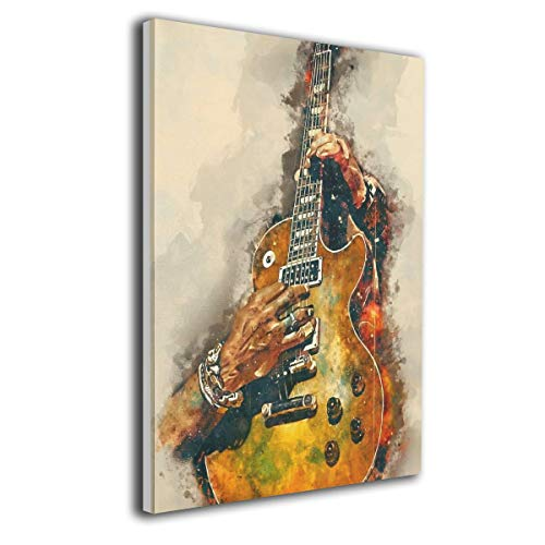 LP ART Canvas Print Wall Art Slashs Guitar Picture Painting for Living Room Bedroom Modern Home Decor Ready to Hang Stretched and Framed Artwork 16''x20''