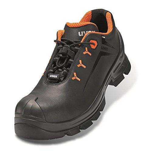 Uvex 2 Arbeitsschuhe - Sicherheitsschuhe S3 SRC ESD - Orange-Schwarz, Größe:42