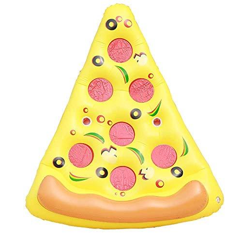 TYUXINSD Licht Schwimmbad Schwimmbett PVC Riesige aufblasbare Pizza Pool Floatflöße Außenpool Aufblasbare Float Spielzeug Gelbe Airbetten & Schlauchboden (Farbe: gelb, Größe: 180x150cm)