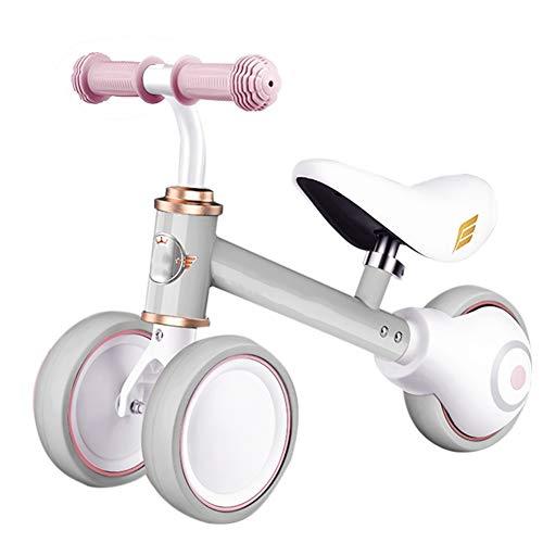 Bicicleta sin pedales Bici Baby Balance Bikes Bicicleta para 12-36 Meses Juguetes para niños pequeños, sin Pedal Infant Boys Girls 3 Wheels First Birthday Gift Children Walker (Color : A)