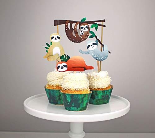 Regendeko Faultier Kinder Party Kuchendekoration Cake Toppers Kinder Geburtstagskuchen Deko